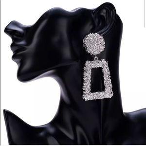 Jewelry - Silver Chunky Drop Earrings